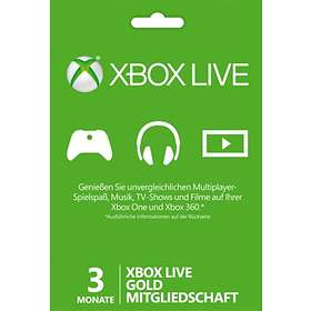 Microsoft Xbox Live Gold 3+1 Month Card