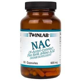Twinlab NAC (N-Acetyl Cysteine) 60 Capsules