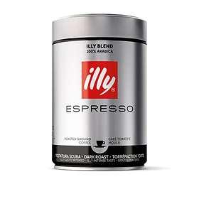 Illy Espresso Dark Roast Ground Coffee 0.25kg