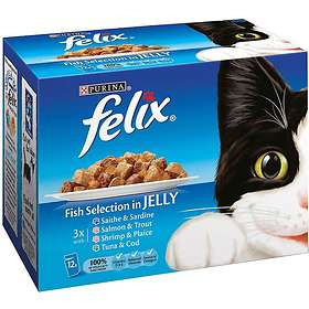 Purina Felix Adult Chunks in Jelly Fish Selection 48x0.1kg