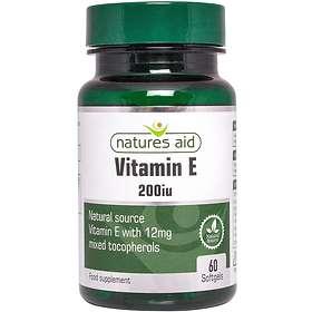 Natures Aid Vitamin E 200IU 60 Kapslar