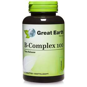 Great Earth B-Complex 100mg 90 Tabletter