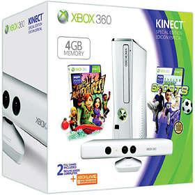 Microsoft Xbox 360 Slim 4Go (+ Kinect + Kinect Adv. + Kinect Sports) - White