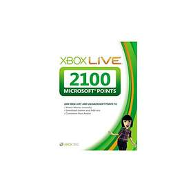 Microsoft Xbox Live Gold 12 Month Card + 2100 Live Points