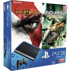 Sony PlayStation 3 Slim 12Go (+ God of War III + Uncharted: Drake's Fortune)
