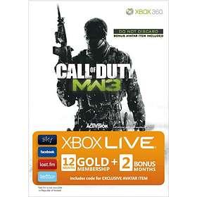 Microsoft Xbox Live Gold 12+2 Months Card - CoD Modern Warfare 3 Edition