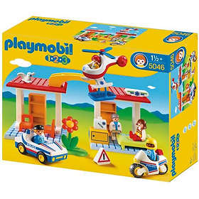 45b57af4801e Find the best price on Playmobil 1.2.3 5046 Hospital with emergency aid  workers and police