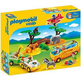 Playmobil 1.2.3 5047 Savannah animals with caretaker and tourists