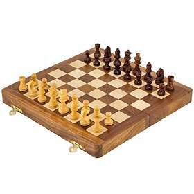 Regency Chess Exotic Hardwood Folding Magnetic Chess Set (pocket)