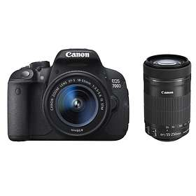 Canon EOS 700D + 18-55/3,5-5,6 IS STM + 55-250/4,0-5,6 IS STM