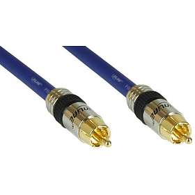InLine Premium 50 Ohm Coax 1RCA - 1RCA 1m