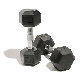 Bodymax Rubber Hex Dumbbell 2x6kg
