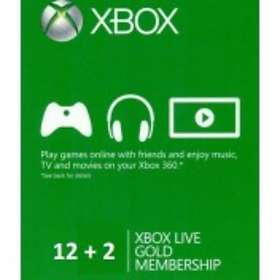 Microsoft Xbox Live Gold 12+2 Months Card