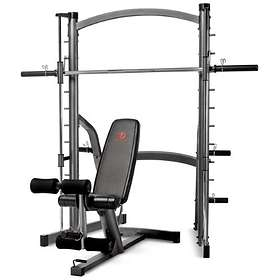 Marcy Fitness SM-1000 Home Gym Smith Machine with Weight Bench