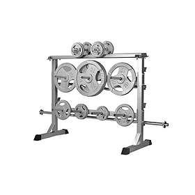 Gorilla Sports Silver Plate/dumbbell Rack