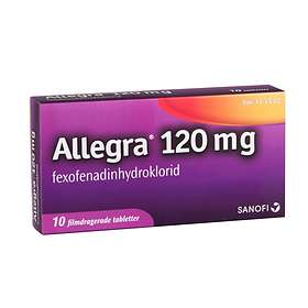 Allegra Fexofenadinhydroklorid 120mg 10 Tabletter