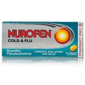 Reckitt Benckiser Nurofen Cold and Flu 24 Tablets