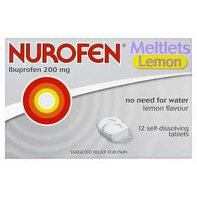 Reckitt Benckiser Nurofen Meltlets Lemon 12 Tablets