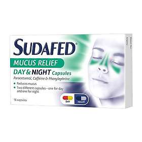 McNeil Sudafed Mucus Relief Day & Night 500mg 16 Capsules