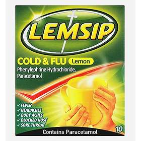 Reckitt Benckiser Lemsip Cold and Flu Lemon Pulver 10pcs