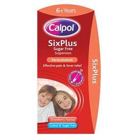 Calpol Sixplus Sugar Free Suspension Strawberry 100ml