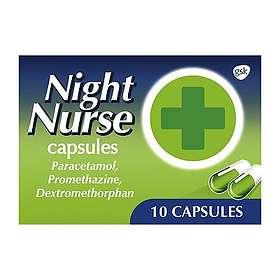 GSK GlaxoSmithKline Night Nurse Cold & Flu 10 Capsules