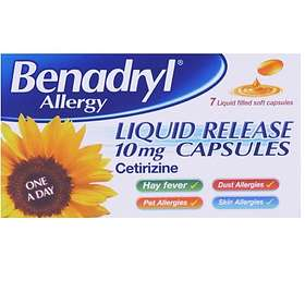Benadryl Allergy Liquid Release 10mg 7 Capsules