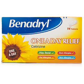 McNeil Benadryl Cetrizine One a Day Relief 14 Tablets