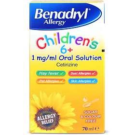 Benadryl Allergy Children's 6+ 1mg/ml Solution 70ml