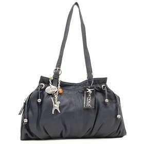 Catwalk Collection Handbags Leather Shoulder Bag Alice Navy