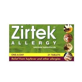 Zirtek Allergy Cetirizindihydroklorid 21 Tablets