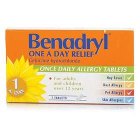 McNeil Benadryl Cetrizine One a Day Relief 7 Tablets