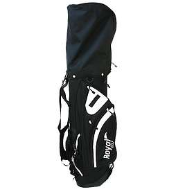 Royal Golf Black and White Carry Stand Bag