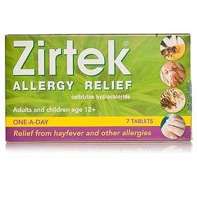 Zirtek Allergy Relief Cetirizindihydroklorid 7 Tablets