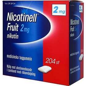 GSK GlaxoSmithKline Nicotinell Fruit Tyggegummi 2mg 204stk