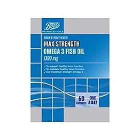 Boots Max Strength Omega 3 Fish Oil 1300mg 60 Capsules