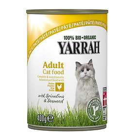 Yarrah Cat Adult Cans Pate Chicken, Spirulina & Seaweed 12x0.4kg