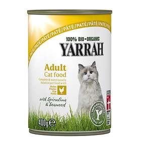 Yarrah Cat Adult Cans Pate Chicken, Spirulina & Seaweed 12x0.4kg