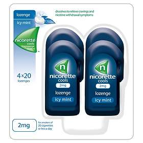 McNeil Nicorette Cools Icy Mint 2mg 80 Sugtabletter