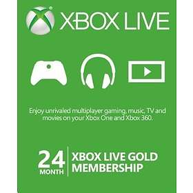 Microsoft Xbox Live Gold 24 Month Card