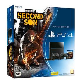 Sony PlayStation 4 500GB (incl. Camera + 2nd DualShock 4 + inFamous: Second Son)
