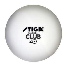 Stiga Sports Club 40+ Polyball White/Orange (100 bollar)