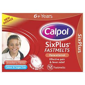Calpol Sixplus Fastmelts Paracetamol 12 Tablets