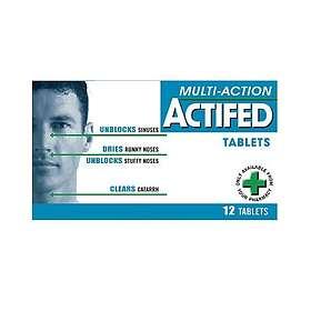 GSK GlaxoSmithKline Actifed Multi-Action 12 Tablets