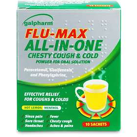 Perrigo Galpharm Flu-Max All-in-One Chesty Cough & Cold Pulver 10pcs