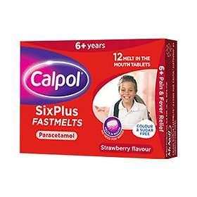 Calpol Sixplus Fastmelts Paracetamol Sugar-Free 24 Tablets