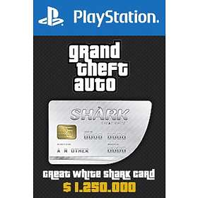 Grand Theft Auto Online: Great White Shark Cash Card - $1,250,000 (PS4)