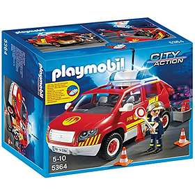 Playmobil City Action 5364 Fire Chief's Car with Lights and Sound