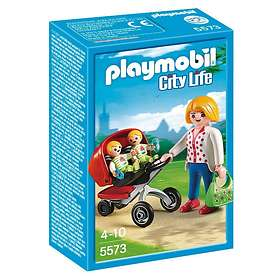 Playmobil City Life 5573 Mother with Twin Stroller