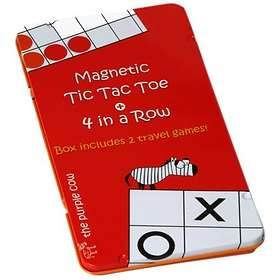 The Purple Cow Magnetic 4 in a Row & Tic Tac Toe (pocket)